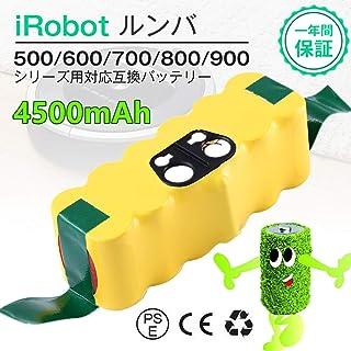ルンババッテリー14.4v ルンバ 14.4vバッテリー ルンバ 互換バッテリー14.4v 4500mAh 超長時間稼動 ルンババッテリー irobot 互換バッテリー roomba バッテリー ルンバ 14.4v 500 600 700 800シリーズ対応 iRobot Roomba ニッケル水素 4500mah大容量お得 掃除機 irobot 互換バッテリー ルンババッテリールンバ 用バッテリー roomba バッテリー 掃除機バッテリー 1年保証付き Topbatt