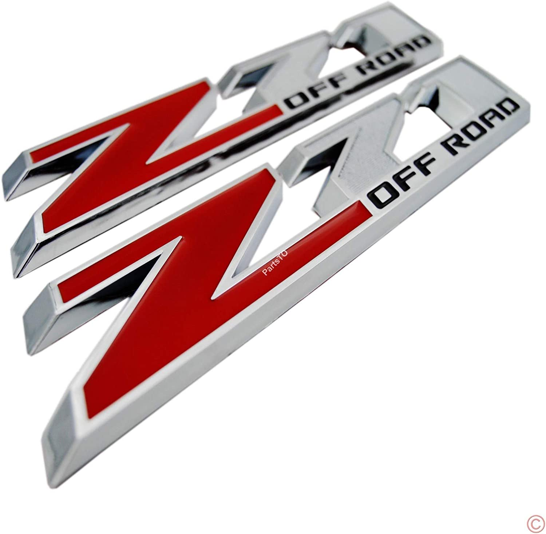 2packs 10L Large Z71 off road Emblems Badges w//Sticker fit for Pickups 2015 2016 2017 2018 2019 2020 GMC Silverado 1500 2500Hd 3500Hd LT LTZ Colorado Tahoe