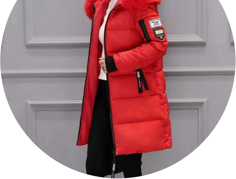 Hot Heaven Warm Coat 2018 Autumn Winter Women Fur Collar Long Hoodie Down Jacket Long Hooded Duck Down Parkas