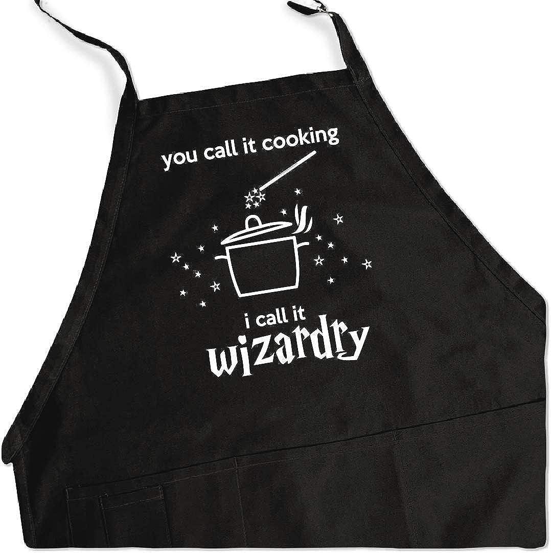 ApronMen Call it Overseas parallel import Max 83% OFF regular item Wizardry Adjustable BBQ Apron Siz Men for One