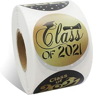BinaryABC Class of 2021 Stickers,Graduation Envelope Seals,Graduation Party Favor Labels,Graduation Gift Tags,500Pcs(Golde...