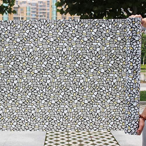 LMKJ Estilo de Piedra pequeño Vidrio de Grava Autoadhesivo película de Ventana Decorativa Vinilo vitral Pegatina A44 60x200cm