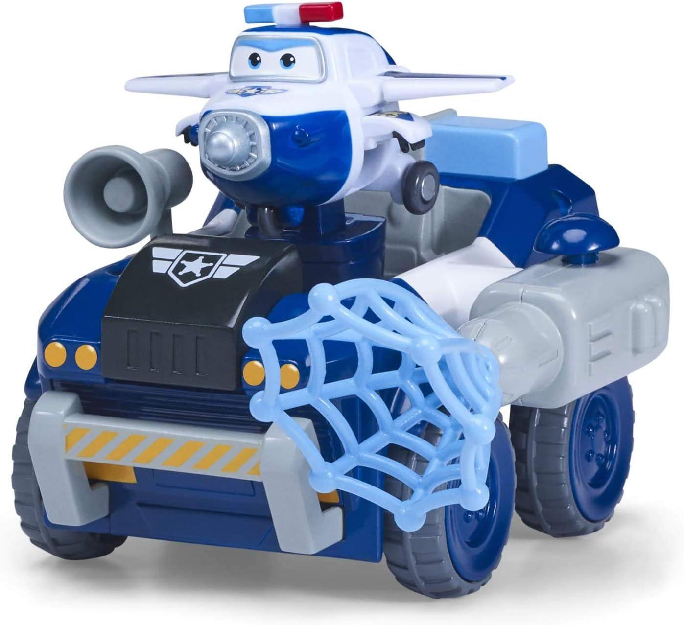 Astras Moon Rover Super Wings Transfom a BOT Vehicle Veh/ículo y Figura de 5 cm