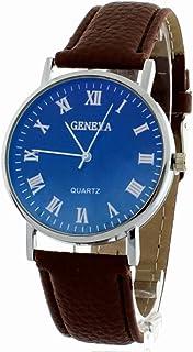 079981114afb BLACKMAMUT Reloj para Hombre Análogo Modelo Geneva Business Cristal  Tornasol Numeración Romana Incluye Estuche Blíster