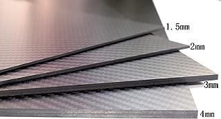 cncarbonfiber 1mm 300x400mm 100% Carbon Fiber Sheet Laminate Plate Panel 3K Twill Matte Finish