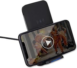 Qi 急速 ワイヤレス充電器 【Rock Space】 [ 置くだけ充電 ] Charge 2.0 二つのコイル ワイヤレス チャージャー iPhone X / iPhone8 / iPhone8 Plus/Galaxy S8 / S8 Plus /S7 / S7 Edge / S6 / S6 Edge/Note 8 / Note 5 / 他Qi対応機種 USB付属 qi 充電器