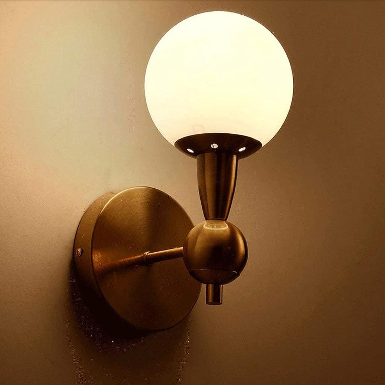 Sin impuestos JU Nordic Simple Simple Simple lámpara de Parojo de Vidrio Post-Moderna Sala de Estar Dormitorio Restaurante Pasillo Moda Creativa lámpara de Parojo  para proporcionarle una compra en línea agradable