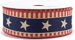 Stars and Bars Patriotic Ribbon - 1 1/2