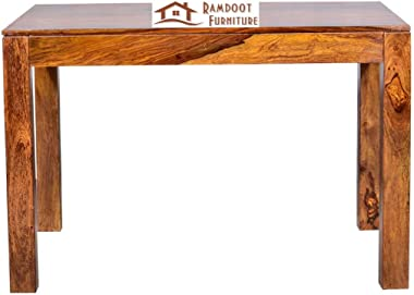Ramdoot Furniture Solid Sheesham Teak Wood Wooden Dining Table 4 Seater | Dining Table Set with 3 Chairs & 1 Bench | Home