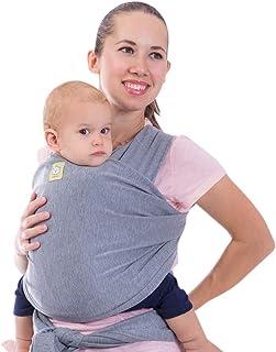 婴儿包巾–婴儿包巾背带来自 keababies–2颜色–婴儿 Sling–新生婴儿 wraps–婴幼儿背带–Babys wrap–弹力宝宝背带 wrap | GREAT 婴儿沐浴礼品灰色 古典灰色 均码