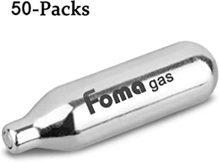 Foma Gas Whipped Cream Chargers N2O Nitrous Oxide 8-Gram Cartridge for Whipper Whipped Cream Dispenser (50 Pack)