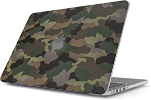 BURGA Hard Case Cover Compatible with MacBook Pro 15 Inch Case Release 2012-2015, Model: A1398 Retina Display NO CD-ROM Tropical Army Camouflage