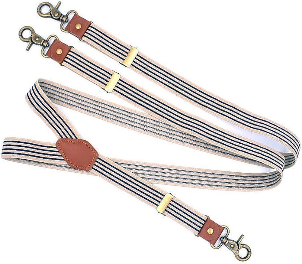 Mens Suspenders with Swivel Hooks on Belt Loops Elastic Heavy Duty Big and Tall Adjustable Braces