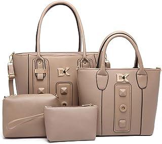 Diana Korr Women's Shoulder Bag with Handbag (Grey) (Set of 4)