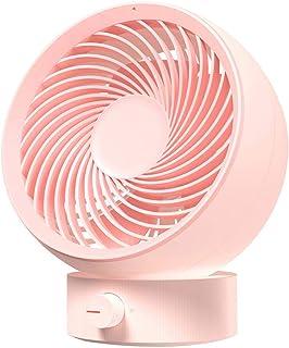 LayTmore Portable Whirlwind Mini Mute Desktop USB Rechargeable Small Table Fan Desk Fan (pink)