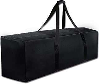"47"" Sports Duffle Bag - Extra Large Travel Duffel Luggage Bag with Upgrade Zipper, Durable & Water Resistant, Black"