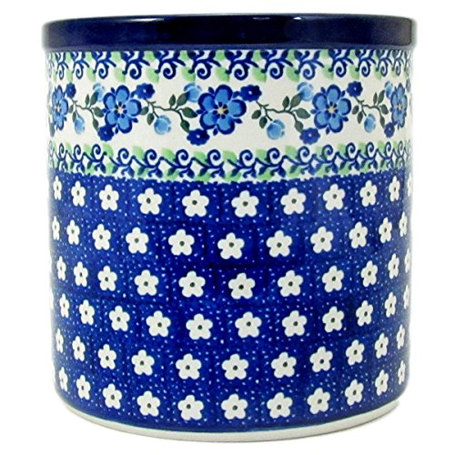 Polish Pottery Hand Crafted 6'' Utensil Crock 003-Spring Melody