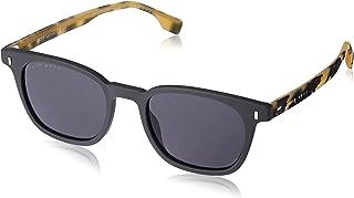 بوس من هيوغو بوس نظارة شمسية للرجال 0970/s مستطيله ، اسود/اصفر, 50 mm