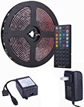 Tingkam Led Strip Lights Kit 32.8 Ft (10m) 300leds Waterproof 5050 SMD RGB LED Flexible Lights with 44key ir Controller and Power Supply for Home,Kitchen,Trucks,Sitting Room and Bedroom Decoration.