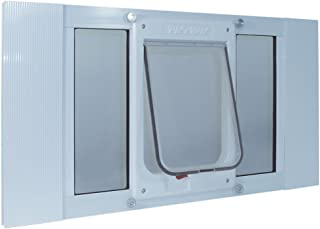 Ideal Pet Products Aluminum Sash Window Pet Door, Adjustable to Fit Window Widths from 27