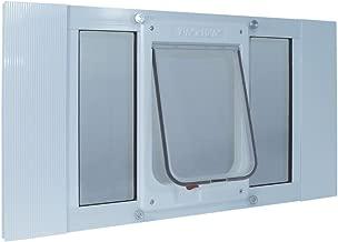 Ideal Pet Products Aluminum Sash Window Pet Door, Adjustable to Fit Window Widths from 27
