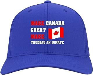 Make Canada Great Make Trudeau an Inmate Twill Cap - High-Profile Snapback Hat - Trucker Hat