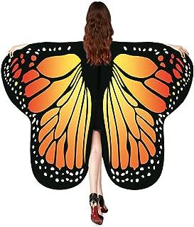 Donna lunga farfalla ali fata mantella sciarpa sciarpe scialle stampa fantasia