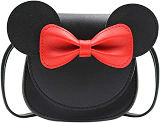 ZGMYC Kids Toddlers Bowknot Crossbody Purse Small Shoulder Bag Satchel with Cartoon Ears