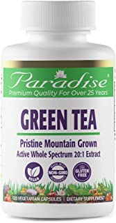 Paradise Green Tea 20:1 Extract - Premium Quality from Pristine Yellow Mountains - Young Tea Leaves - 100% Naturally Extra...
