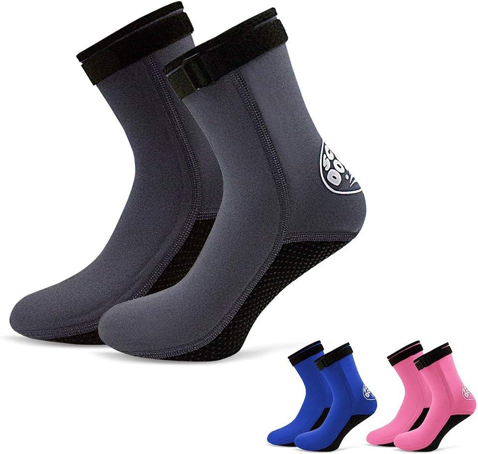 Lixada 3 mm Neopren Tauchen Socken Stiefel Wasser Schuhe Beach Booties Schnorcheln Tauchen Surfen Stiefel f/ür M/änner Frauen