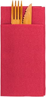 Luxenap Air Laid Kangaroo Burgundy Dinner Napkins - Soft and Durable 16