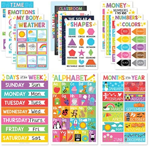 16 Educational Posters for Classroom Decor &...