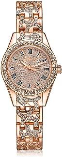 Lvpai Roman Numbers Women Bracelet Wrist Watches with Rhinestones Analog Quartz P067
