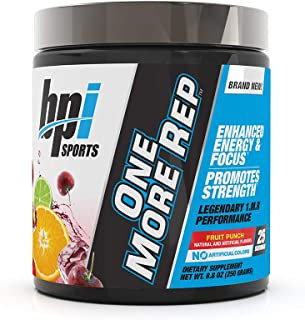 BPI Sports One More Rep Pre-Workout Powder – Increase Energy & Stamina –..