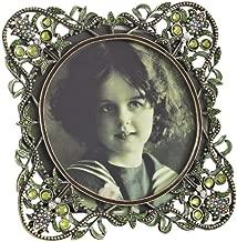 SARO LIFESTYLE PF110 1-Piece Round Photo Frame, 4-Inch, Green