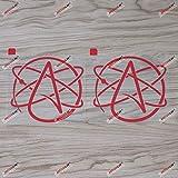 2X red 4'' Atheist Symbol Decal Sticker Car Vinyl Atheism Die Cut