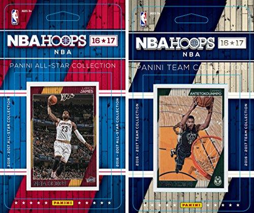 C&I Collectables NBA Milwaukee Bucks Men's Licensed 2016-17 Hoops Team Plus All-Star Set, White