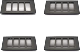 Tulead Matte Black Rectangular Vent Cover Aluminum Alloy Soffit Vents Return Vent Air Vent (7.9