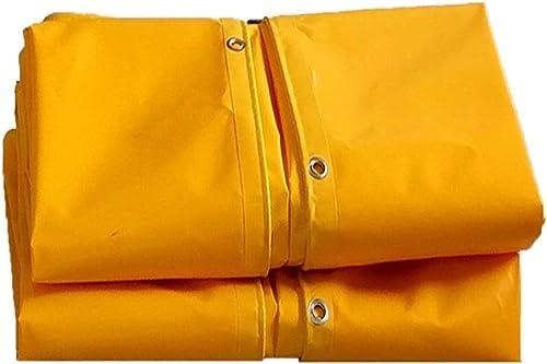 AJZGF Tissu Imperméable à l'eau Imperméable Bache Double-Face rembourré étanche à l'eau Solaire Tente Tissu Camion Tissu à l'huile Coupe-Vent Anti-vieillissement, Jaune