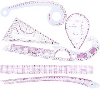 FLAMEER 6点/セット 縫製定規 フレンチカーブルーラー キルティング パッチワークルーラー 全3タイプ - 1