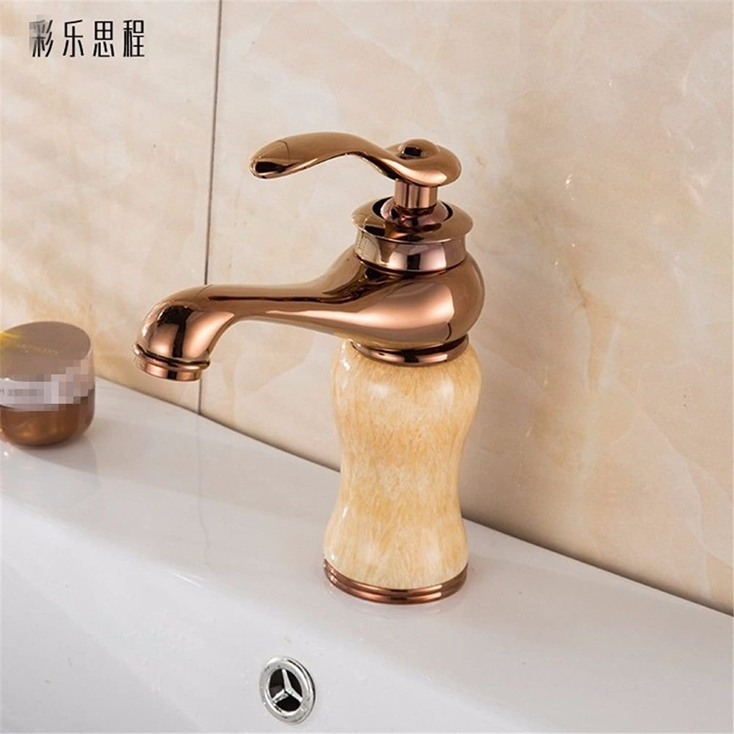 Commercial Single Lever Pull Down Kitchen Sink Faucet Brass Copper Antique European Marble Old Bathroom Hot and Cold Faucet Bathroom Single Hole Above Counter Basin Kitchen Bathroom Vanity