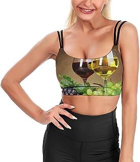 Cyloten Women's Sport Tank Top Grape Wine Yoga Sport Tops Bra Padded Cup Gym Shirts -