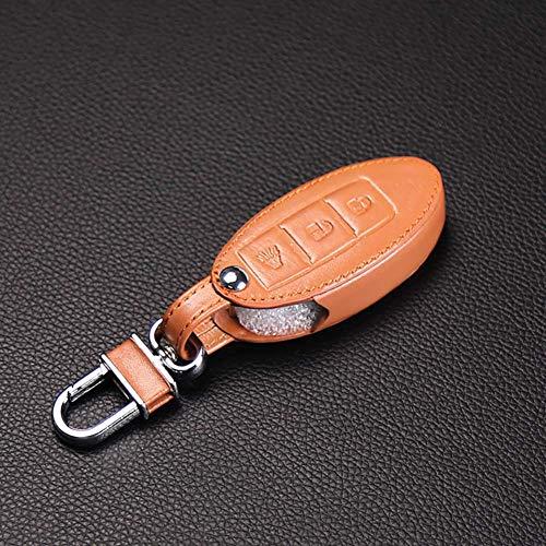 TMAAORS Funda de cuero para llave de coche, funda para llave remota automática, para Nissan Infiniti EX FX G25 G37 FX35 EX25 EX35 FX37 EX37 Q60 QX50 QX70