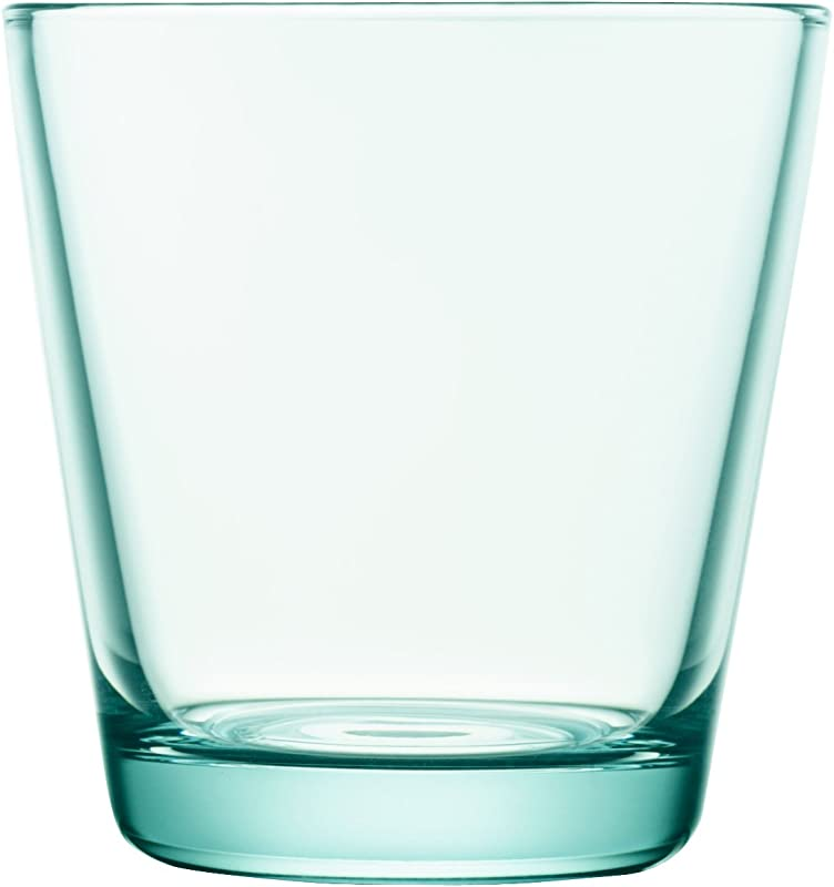 Iittala Kartio Set Of Two Glass Tumblers Water Green 7 Ounce Capacity
