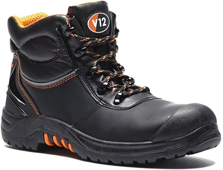 PDL V12 VR657 Endura ll Mens Black Leather Safety LACE UP Steel Toe Cap Work Boot