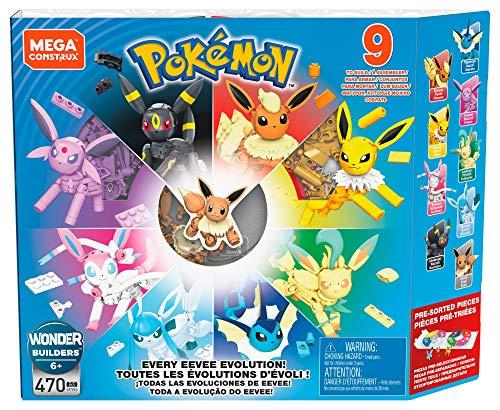 Mega Construx Pokemon, Coffret Évolutions D'evoli, Jeu de Construction, 470 Pièces, pour Enfant Dès 6 Ans, Gfv85 [Exclusif Amazon]