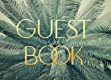 Guest Book: Retro Tropical Theme for Weddings, Showers and Celebrations | Modern Art Deco Design | For 250 guests and their messages