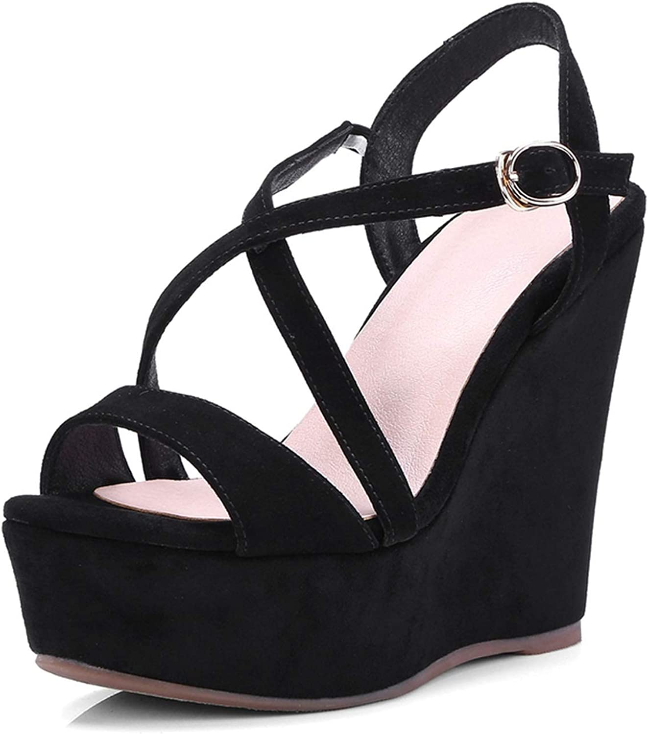 Casual Buckle High Heels Sandals Women Wedges shoes for Women shoes Woman ZYL2660