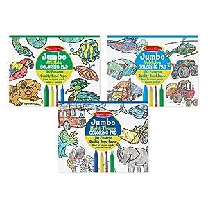Melissa & Doug Coloring Pad Bundle: Animals, Vehicles and Multi-Theme - 61rb3Ai46dL - Melissa & Doug Coloring Pad Bundle: Animals, Vehicles and Multi-Theme