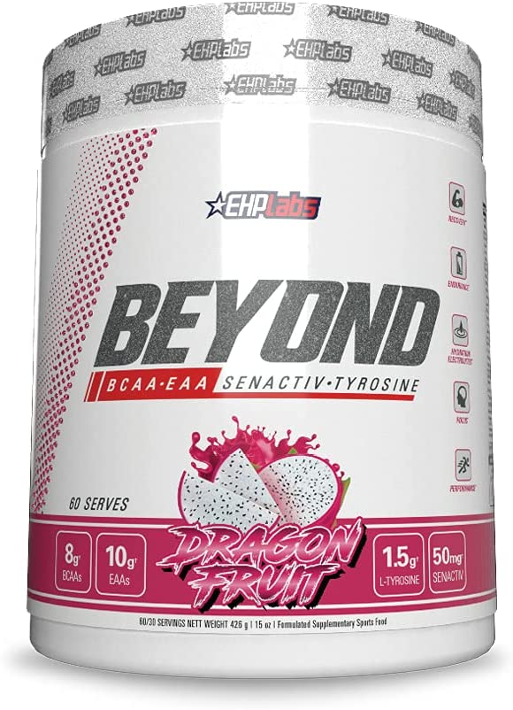 Beyond BCAA + EAA by EHPlabs - 10g of Essential Amino Acids, Assists with Muscle Endurance, Recovery & Fatigue (Dragon Fruit)
